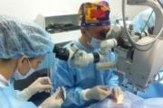 За първи път направиха операция на глаукома с поставяне на вътреочен имплант